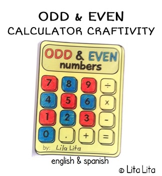 FREE Odd & Even calculator craftivity