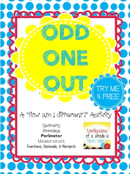 Odd One Out Freebie - Defend Your Choice!