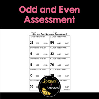 Odd and Even Assessment