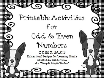 Printable Activities for Odd & Even Numbers CCSS 2.OA.C.3