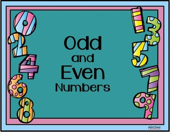 Odd and Even Number Mini-Posters
