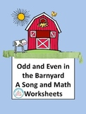 Odd and Even Number Math Worksheets with a Math Song