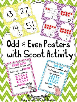 Odd and Even Posters with Scoot Activity