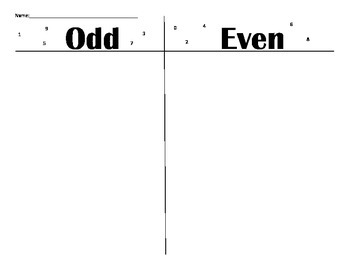 Odd and Even sorting mat