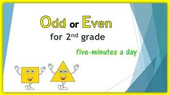 Odd or Even:  2nd grade