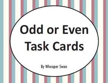 Odd or Even Task Cards