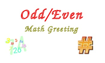 Morning Meeting Math Greeting - Odd/Even