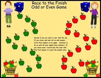 Odd/Even Race to the Finish Game (Interactive Smartboard File)