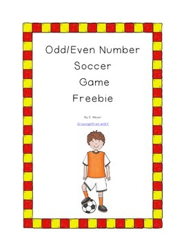Odd/Even Soccer Freebie