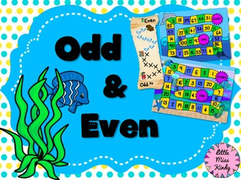 Odd and Even Games, Poster, Math Centers, Activities