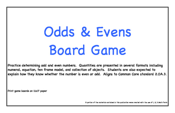 Odds and Evens Board Game