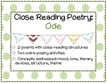 Close Reading Poetry: Ode