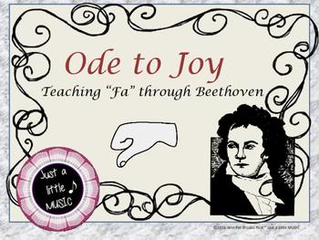 Ode to Joy--teaching Fa through Beethoven solfege reading