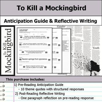 To Kill a Mockingbird - Anticipation Guide & Reflection