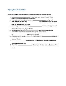 Odyssey Quiz books 15-16