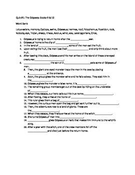 Odyssey Quiz books 9-10