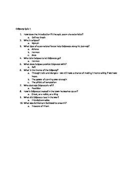 Odyssey Quizzes