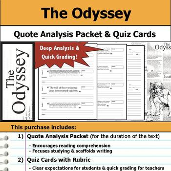 Odyssey - Quote Analysis & Reading Quizzes