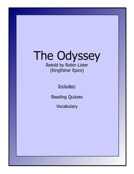 Odyssey novel packet for younger students - vocabulary & r