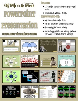 Of Mice & Men PowerPoint (Complete Unit)