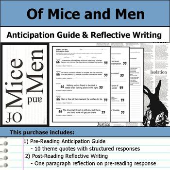 Of Mice and Men - Anticipation Guide & Reflection