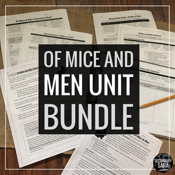 Of Mice and Men: Assessment Pack (Quizzes, Test, Essay, an