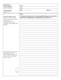 Of Mice and Men Chapter 1 Cornell Notes Close Reading Pass