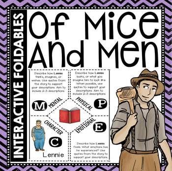 Of Mice and Men: Reading and Writing Interactive Notebook