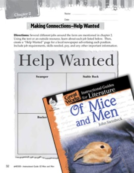 Of Mice and Men Making Cross-Curricular Connections