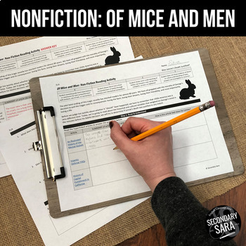 Of Mice and Men: Non-Fiction Reading Activity