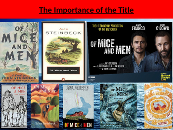 Of Mice and Men - The importance of the title (and the ori