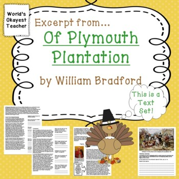 Of Plymouth Plantation by William Bradford: Excerpt from P