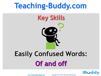 Of and Off teaching resource
