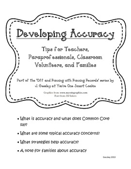 Off and Running With Running Records: Reading Strategies f