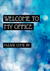 Office Signs - School Counseling Bundle - Blue Bokeh Stone 2