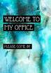Office Signs - School Counseling Bundle - Blue Bokeh Stone