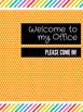 Office Signs - Counseling Bundle - Orange Rainbow