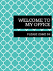 Office Signs - School Counseling Bundle - Teal Scales