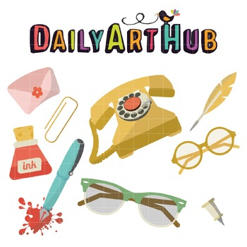 Office Things Clip Art - Great for Art Class Projects!