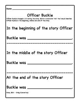 Officer Buckle Character Development