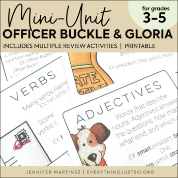 Officer Buckle and Gloria Mini Activities Literature Unit