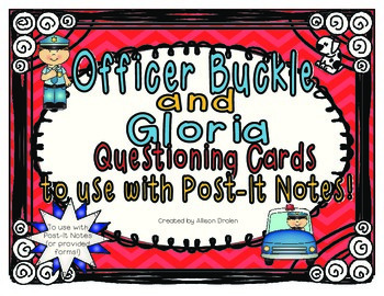 Officer Buckle and Gloria Questioning Cards to use with Po
