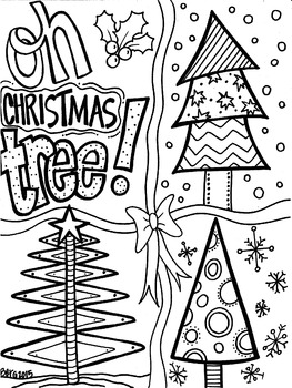 Oh Christmas Tree Coloring Page