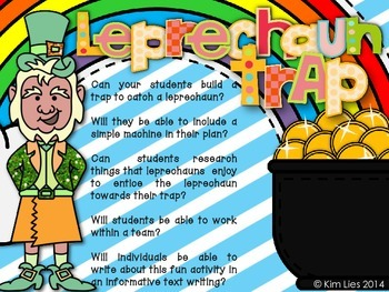 Oh Leprechaun!  Simple Machines Leprechaun Trap Project