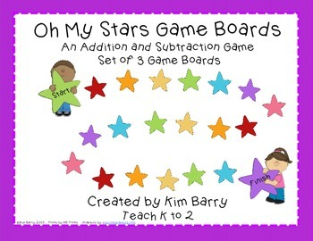 Game Boards - Addition and Subtraction Practice - Oh My St