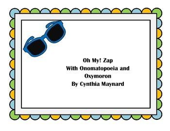 Oh My! Zap Game Figurative Language Oxymoron and Onomatope