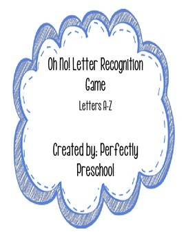 Oh No! Letter Recognition Game
