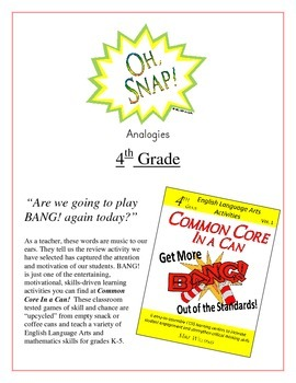 """Oh, Snap!"" 4th Grade Analogies Game Common Core"