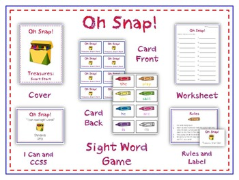 Oh Snap! Math Folder Card Game - Adding Doubles