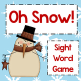 Oh Snow! ~ First 100 Fry Sight Word Game